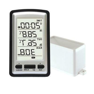 Wireless Rain Meter Gauge Weather Station Recorder