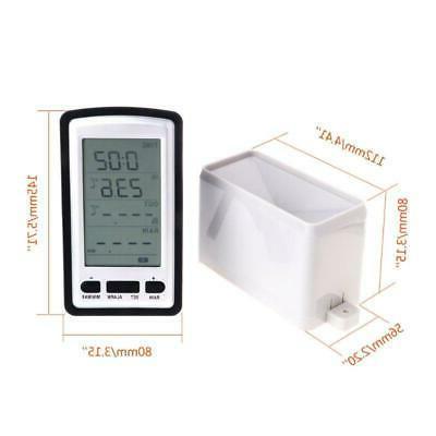 wireless rain meter gauge weather station indoor
