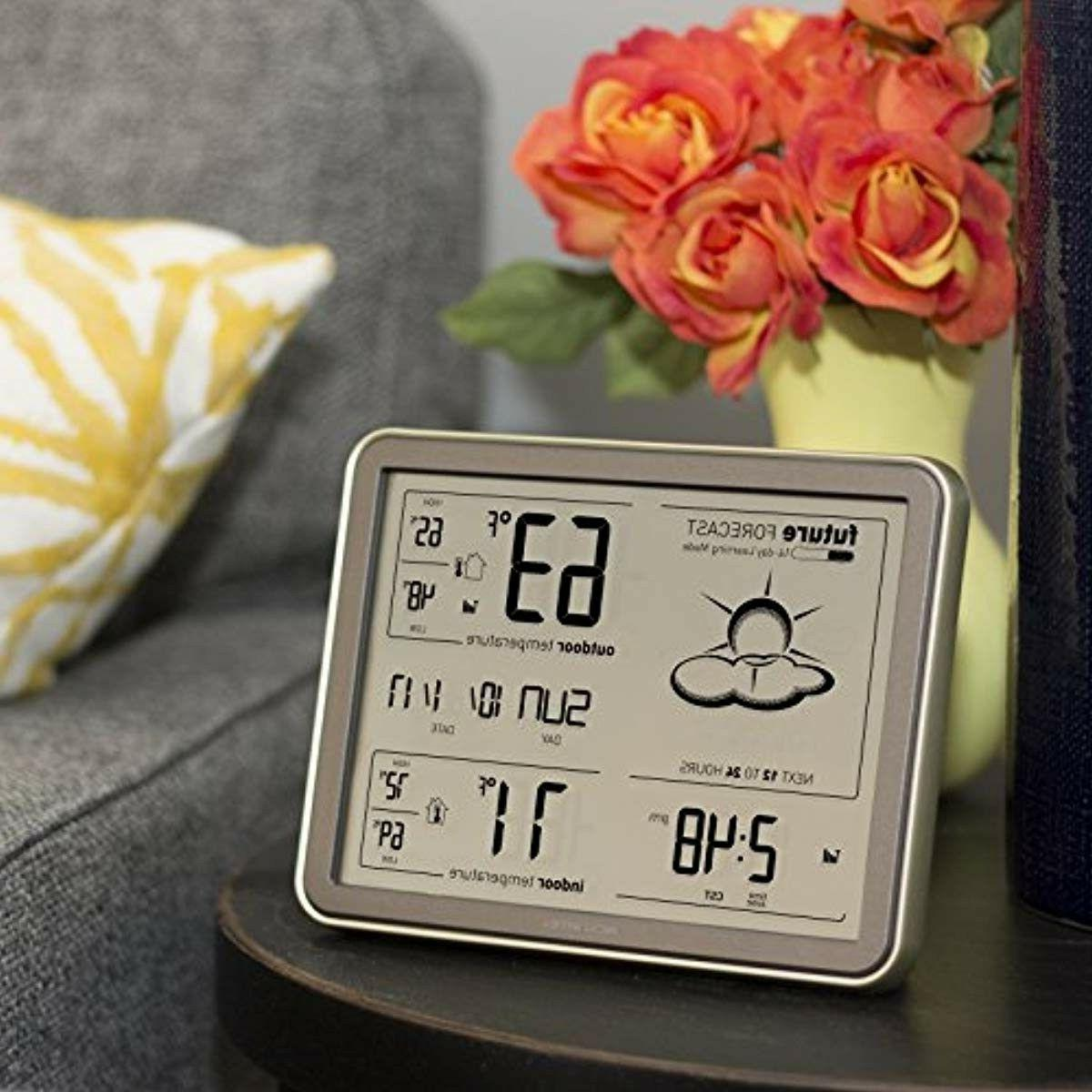 Wireless Temperature Sensor, Station Large and Clock