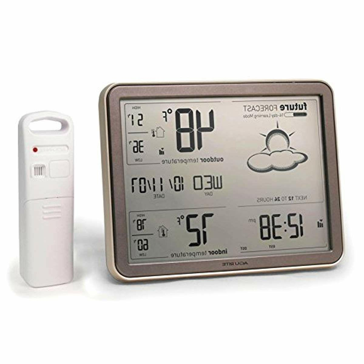 wireless temperature sensor weather station with large