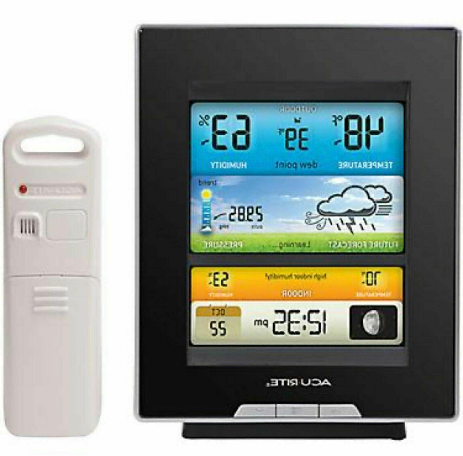 wireless weather forecaster with color lcd 02048