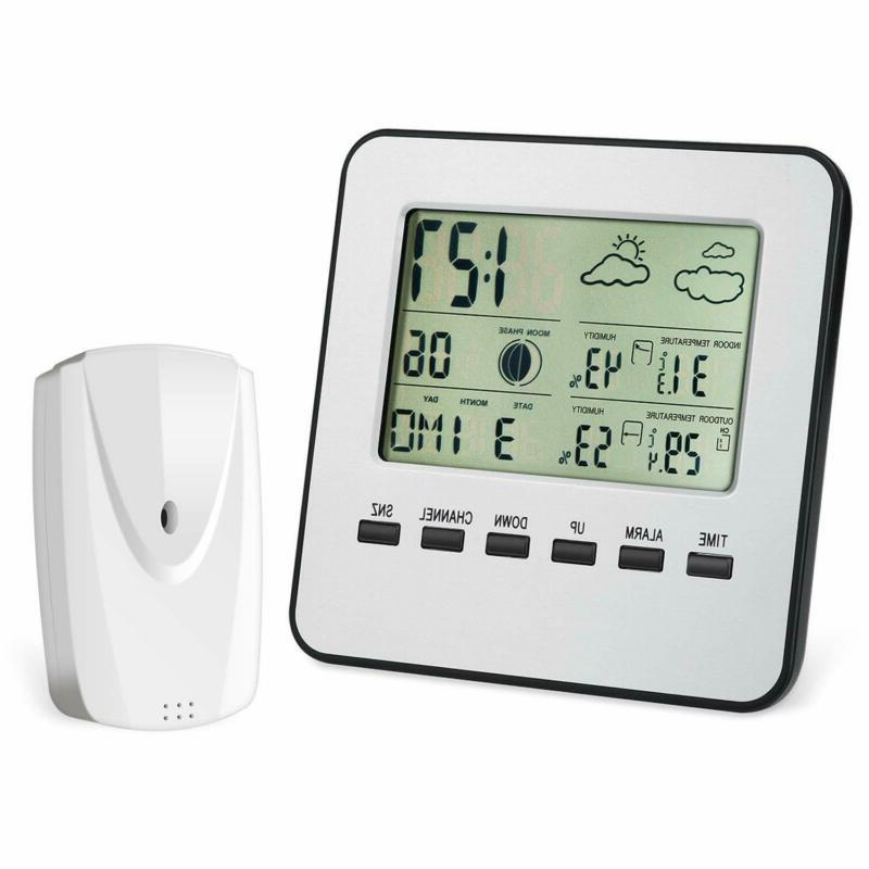 wireless weather station digital indoor outdoor thermometer