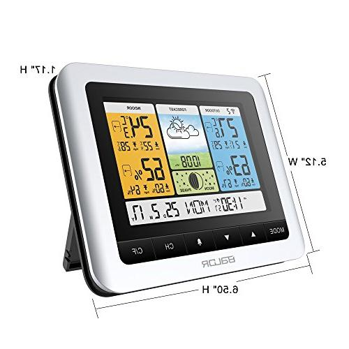 Station, Digital Thermometer & Hygrometer Temperature Humidity with Constant Back-Light, Adapter