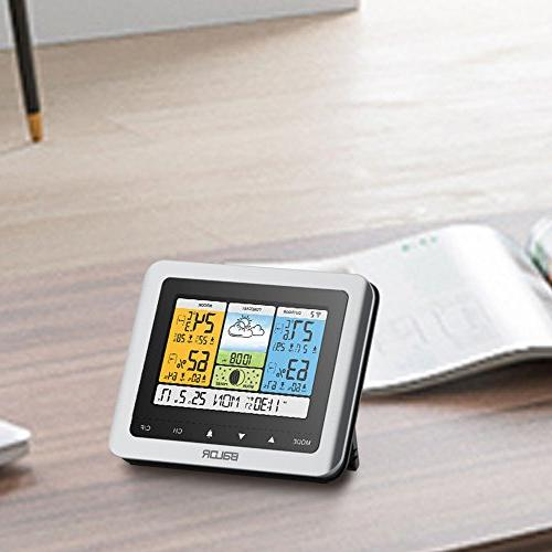 BALDR Station, Digital Indoor/Outdoor Thermometer & Hygrometer with Humidity with Constant Back-Light, Adapter