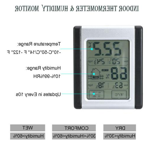 Wireless Weather Station Clock Thermometer Temperature