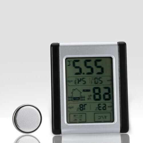 Wireless Weather Station Digital Clock Indoor Thermometer Hy