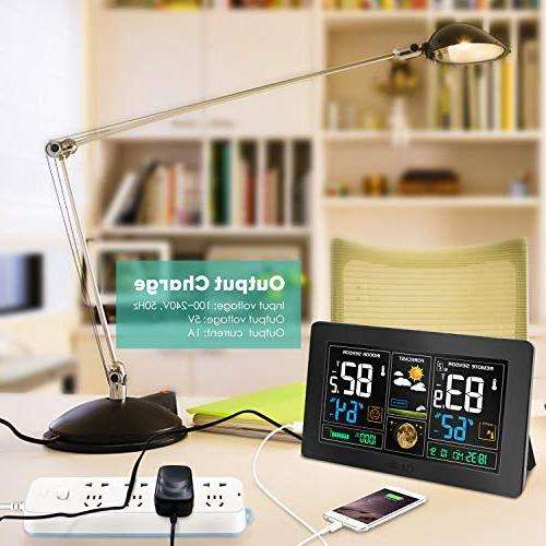 GBlife Station, Color Station, Digital Indoor Thermometer with Remote Barometer, Weather Temperature Alerts