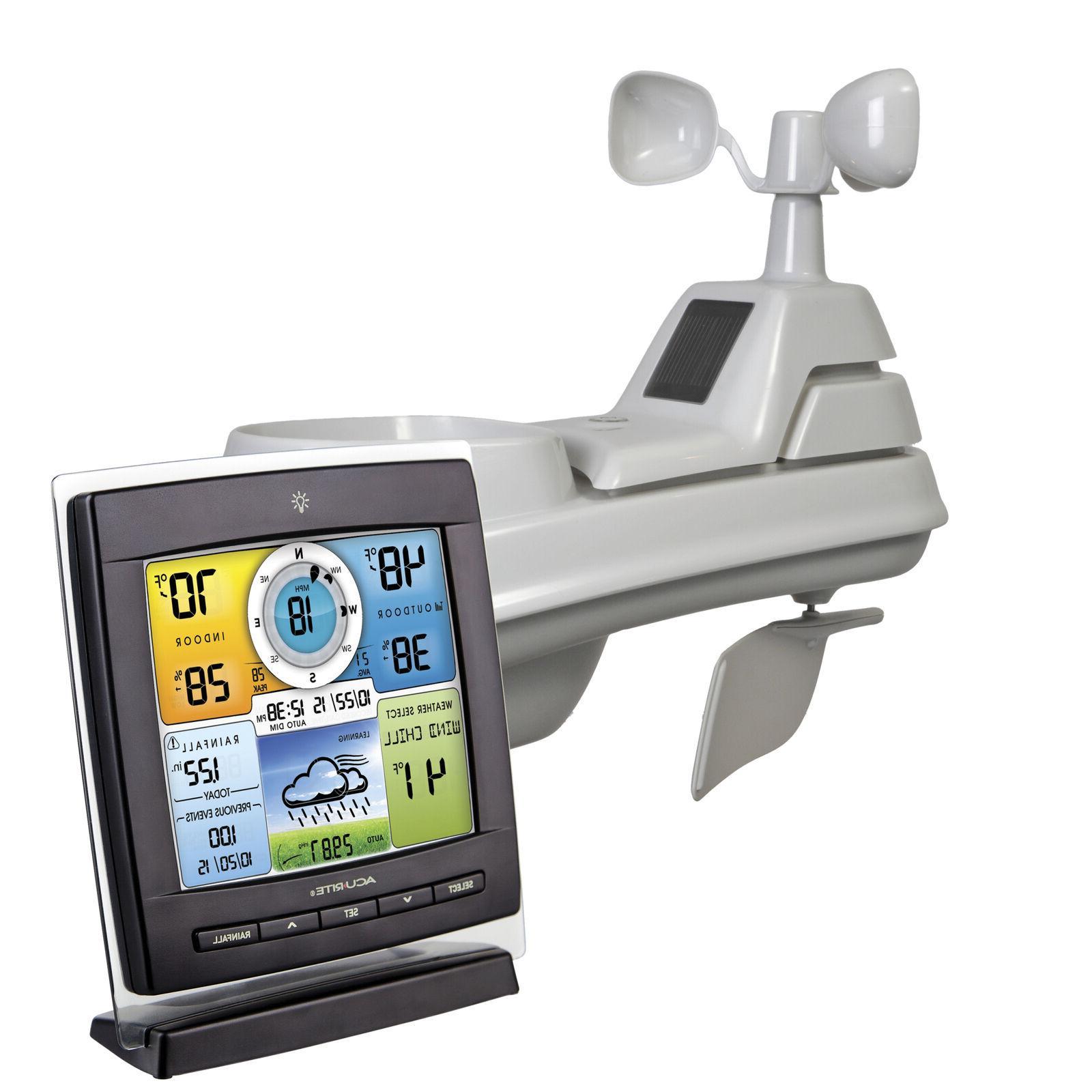 Wireless Weather Station W/ 5-in-1 Sensor 12-24 hr Self-Cali