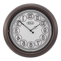 """La Crosse 403-3246BR 18"""" Indoor/Outdoor Lighted Dial Clock"""