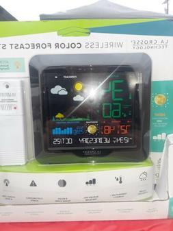 La Crosse Wireless Color Weather Station Clock Indoor Outdoo