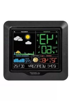 La Crosse Wireless Color Weather Station SB4107 Black Indoor