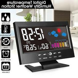 ELEGIANT LCD Color Thermometer Hygrometer Weather Station Sn
