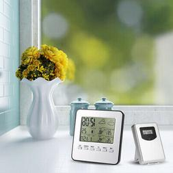 LCD Color Wireless Weather Station Outdoor Alarm Clock Therm