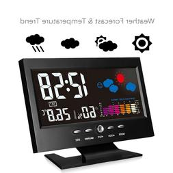 lcd color wireless weather station outdoor alarm