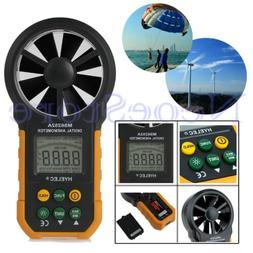 LCD Digital Anemometer Wind Speed Meter Air Flow Tester Meas