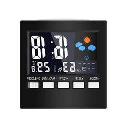 LCD Digital Display Weather Station Temperature Humidity Cal