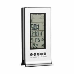 LCD Digital Indoor Wireless Weather Station Thermometer Humi