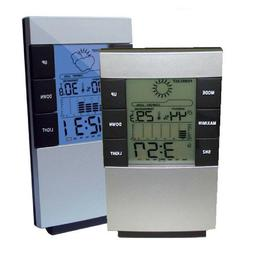 LCD Digital Weather Station Hygrometer Thermometer Clock Ala