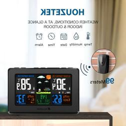 Houzetek LCD Display Digital Wireless Auto Weather Station T