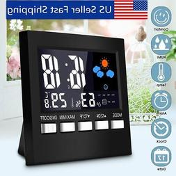 LCD Display Wireless Weather Station Clock Calendar Hygromet