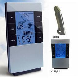 LCD Weather Forecast Alarm Clock Perpetual Calendar Electron