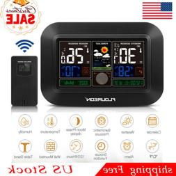 LCD Weather Station Wireless Barometer Temp Humidity Alarm C