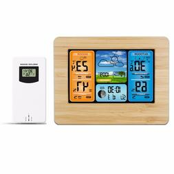 LCD Wireless Weather Station Indoor Outdoor USB Digital Fore