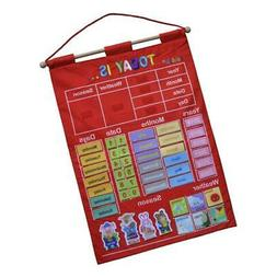 Learning Calendar w/ Weather Station for Kids Early Educatio