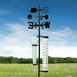 Bits and Pieces - Metal Weather Station - Measures Rainfall,