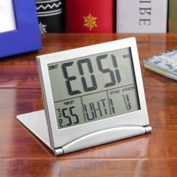 New Digital LCD Weather Station Folding Desk Temperature Tra