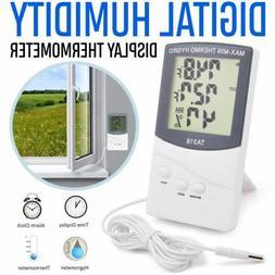 New Indoor/Outdoor Thermometer Digital LCD Hygrometer Meter