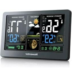 Newentor Weather Station Wireless Indoor Outdoor Thermometer