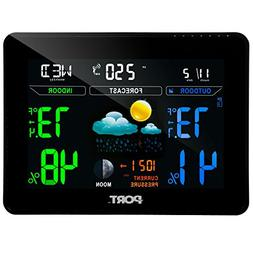 Port PO207-A Wireless Color LCD Display Indoor Outdoor Weath