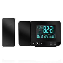 Protmex Projection Alarm Clock, PT3531B WWVB Digital Radio C