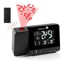 Projection Clock, Digital Projection Alarm Clock with Weathe