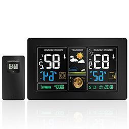 Protmex PT3378 Color Weather Forecast Station, Digital Indoo