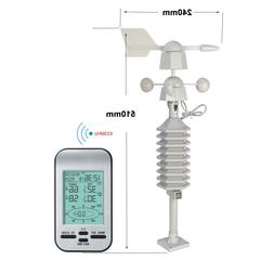 RF 433mhz wireless weather station clock with wind speed and