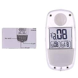 F-blue LCD Digital Solar Power Window Thermometer Suction Cu