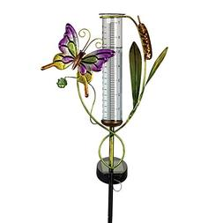 Bits and Pieces - Solar Powered Butterfly Rain Gauge Garden