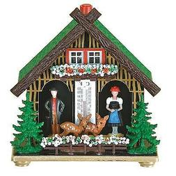 Souvenir German Black Forest weather house Barometer weather