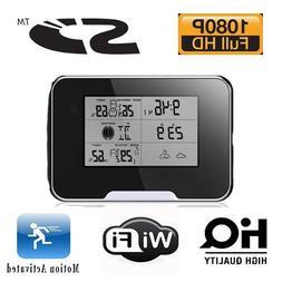 Know Your Nanny™ Spy Camera Hd 1080 Weather Station Camera