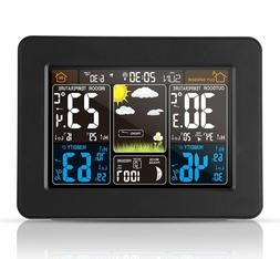 Station weather wireless atomic with sensor of interior exte