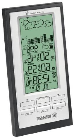 TE688W Weather Forecaster with Barometric Pressure, Black