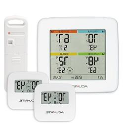 AcuRite 01096M Temperature & Humidity Station with 3 Indoor/