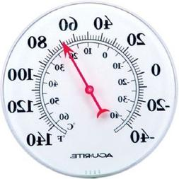 "Acu-Rite 8"" Dial Thermometer - Basic Indoor/Outdoor 00353"