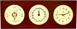 Time Tide Clocks, Barometer and Thermometer - Color: Mahogan