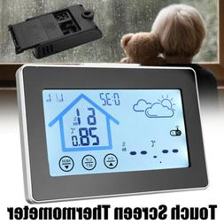 Touch Screen Thermometer Digital Hygrometer Electronic Wirel