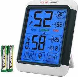 Digital Touchscreen Indoor Humidity Thermometer Temperature