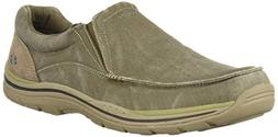Skechers USA Men's Expected Avillo Slip-On Loafer, Khaki, 11