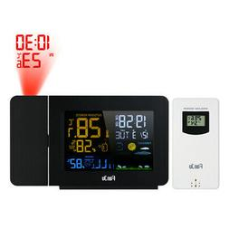 FanJu USB Digital LCD Weather Station Projection Alarm Clock